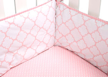 Pink and Sea Foam Matching Baby Bedding Set for Twins