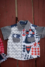 Nautical Dress and Matching Shirt for Twins