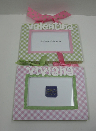 Customizable Gingham Frames For Twins Personalized