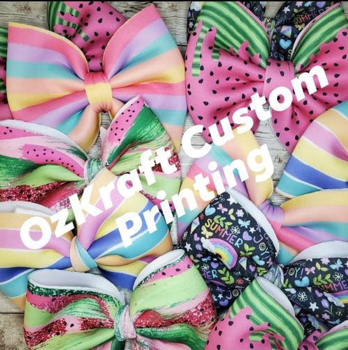 Custom Techno Scuba (PUFF Fabric)
