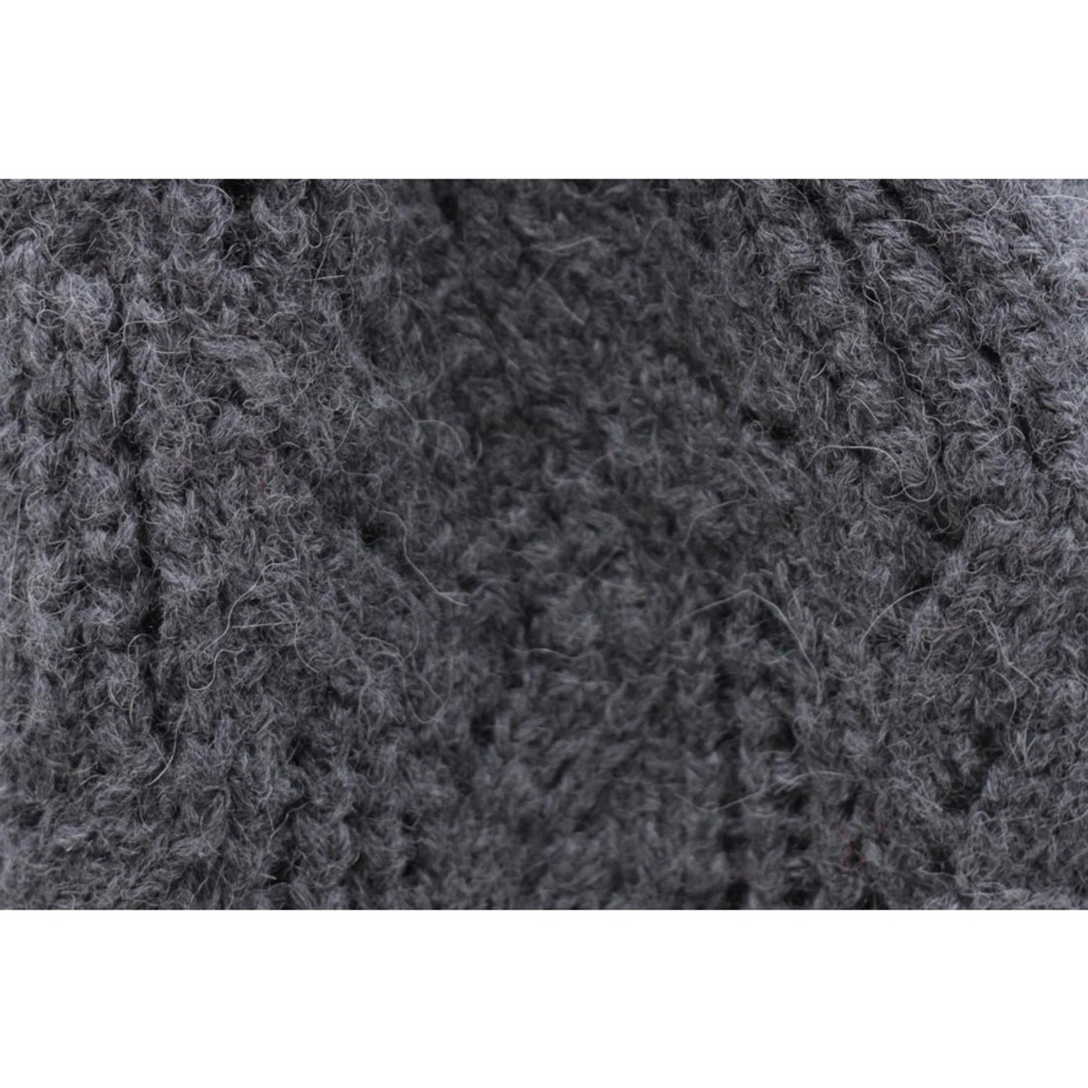 0540ed6f Superfine Hand Knitted Alpaca Wool Beanie Hat & Chunky Scarf Charcoal Gray  (33B-040