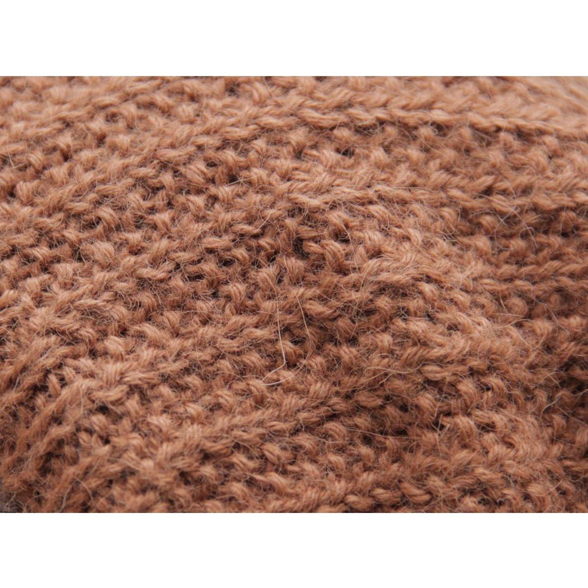 abba76ac Superfine Hand Knitted Alpaca Wool Beanie Hat & Scarf Copper (33C-016-790
