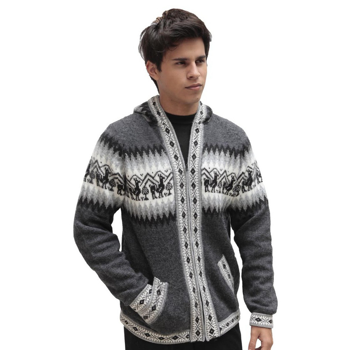 80229.MRCDKH-52 TrousersAttitude80229 Size Black//Grey 36//32 Black//Charcoal Grey Havep