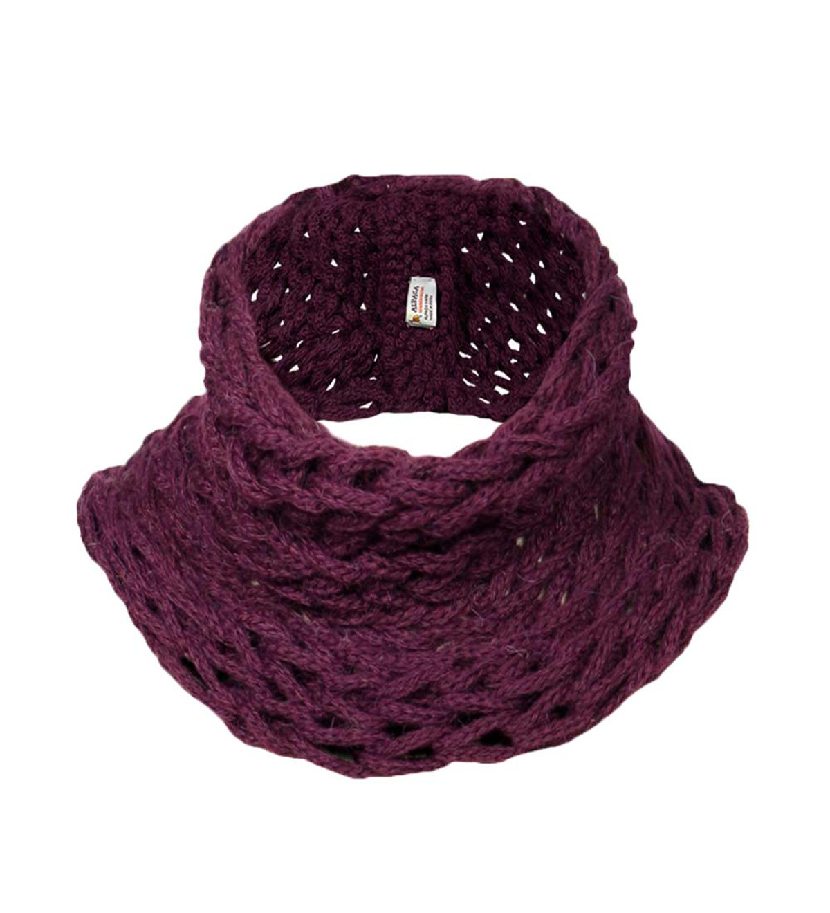 9a63641bc4 Women's Alpaca Wool Blend Winter Needle Knitted Soft Warm Infinity Scarf  Solid Color