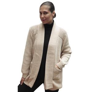 Women's Alpaca Wool Coat Sz XL Beige
