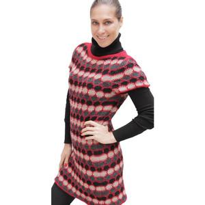 Womens Superfine Alpaca Wool Short Sleeved Sweater/Dress Sz M