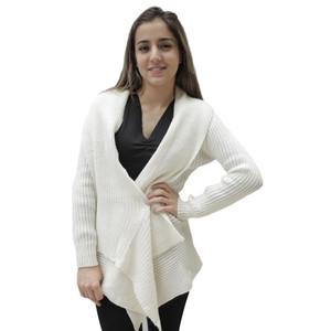 Women's Alpaca Wool Coat SZ M Ivory