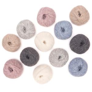 Pullu - Baby Alpaca Merino Wool Yarn Set of 3 Skeins (150 Grams) Worsted Weight