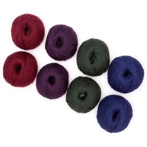 100% Highland Wool Yarn Set of 3 Skeins (150 Grams) Worsted Weight