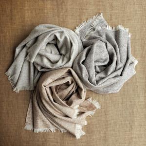 Eco Boucle Baby Alpaca & Silk Throw Blanket