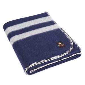 Navy Blue - Soft Gray Stripes 2