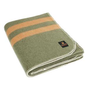 Olive Green - Soft Camel Stripes