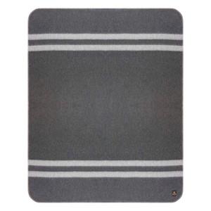 Charcoal Gray - Soft Gray Stripes