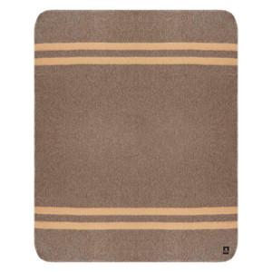 Dark Brown - Soft Camel Stripes