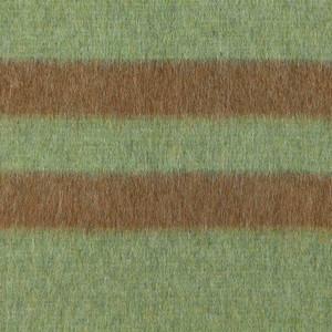 Aqua Green - Soft Brown Stripes