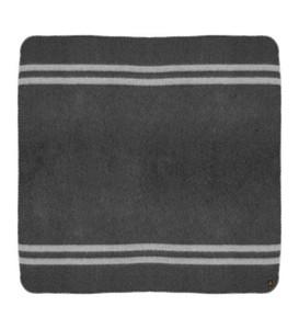 Charcoal Gray - Silver Gray Stripes