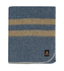 Blue - Soft Brown Stripes