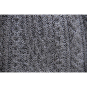 Chunky Superfine Handknitted Alpaca Scarf Gray (06-003-12100)