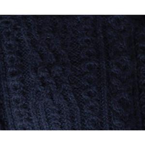 Chunky Superfine Handknitted Alpaca Scarf Navy Blue (06-019-12094)