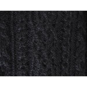 Chunky Superfine Handknitted Alpaca Scarf Black (06-033-12095)