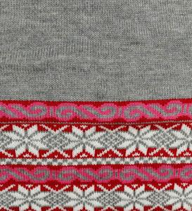 Soft Gray/Red/Fuchsia