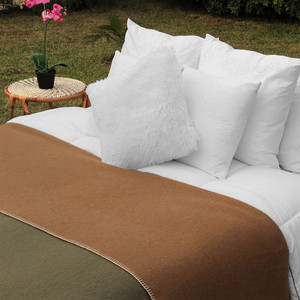 Alpaca Wool Thick Blanket Queen Size - Biface Design