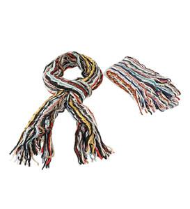 Alpaca Wool Unisex Knitted Scarf Multicolor Design