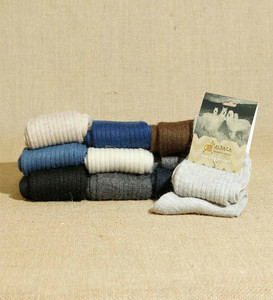 Unisex Alpaca Wool Knitted Socks Soft And Warm Solid Color