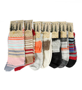 Baby Alpaca Wool Knitted Short Socks Soft And Warm Size Small 5-7.5 Two Color Design For Women Peru