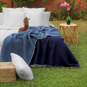 Alpaca Wool Thick Blanket King Size - Biface Design