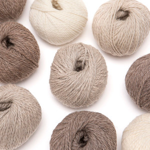 100% Eco Highland Wool Yarn Set of 3 Skeins (150 Grams) Worsted Weight Natural Colors (No Dyes)