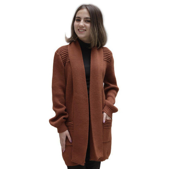 Women's Alpaca Wool Coat Sz M Copper
