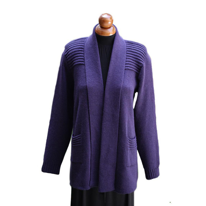 Women's Alpaca Wool Coat Sz L Purple