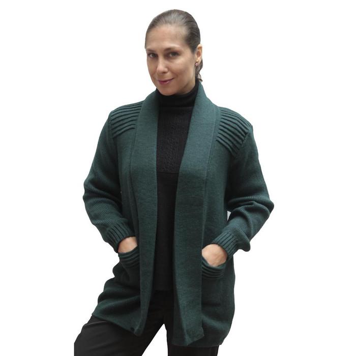 Women's Alpaca Wool Coat Sz L Green