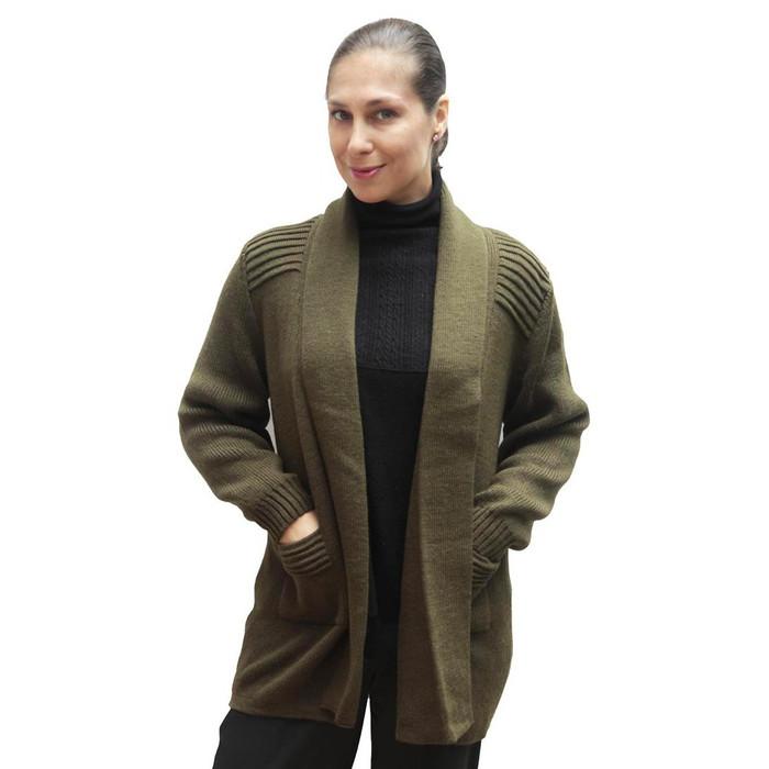 Women's Alpaca Wool Coat Sz L Leaf Green
