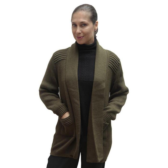 Women's Alpaca Wool Coat Sz M Leaf Green