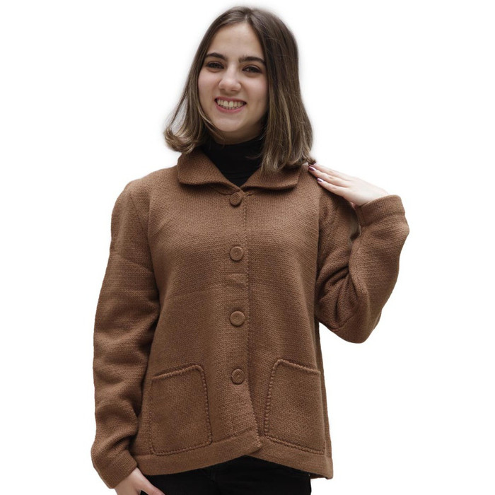Women's Alpaca Wool Coat Size M Camel