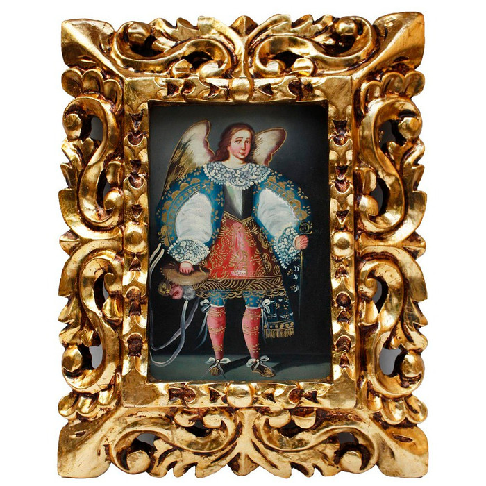"Archangel Michael Original Art Framed Oil Painting 10""x 8"""