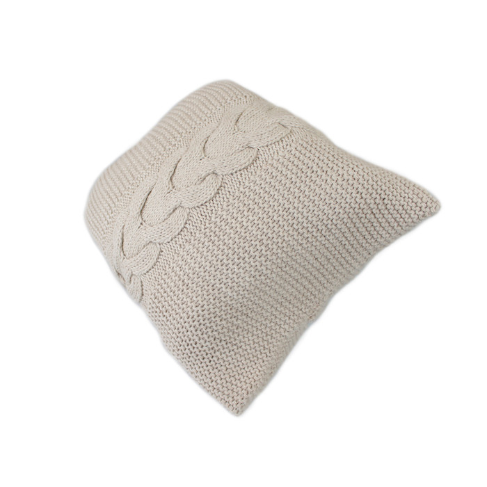 Handknit Superfine Alpaca Wool Decorative Cable Throw Pillow Cover Home Cushion Case