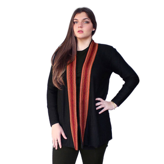 Women's 100% Baby Alpaca Wool Knitted Coat Sweater Kuna Cusco