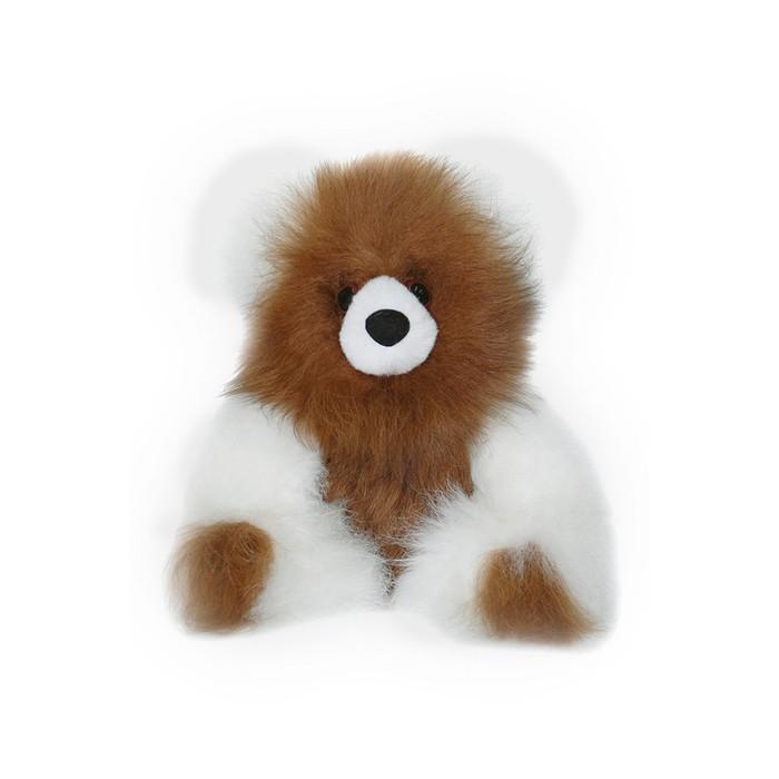 "Superfine 100% Baby Alpaca Fur Stuffed Artist Teddy Bear 10"" (22-100-03452)"