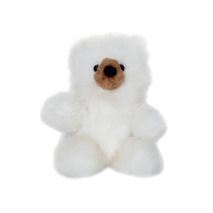 "Superfine 100% Baby Alpaca Fur Stuffed Artist Teddy Bear 10"" (22-100-03454)"