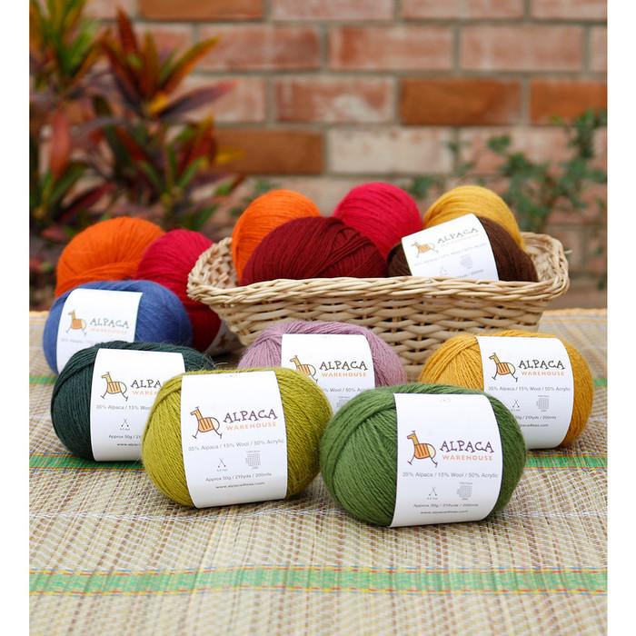 Blend Alpaca Yarn Wool Set Of 3 Skeins Fingering Weight
