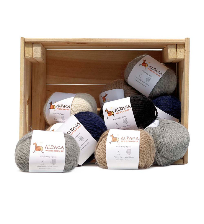 100% Baby Alpaca Yarn Wool Set Of 3 Skeins Chunky Bulky Weight