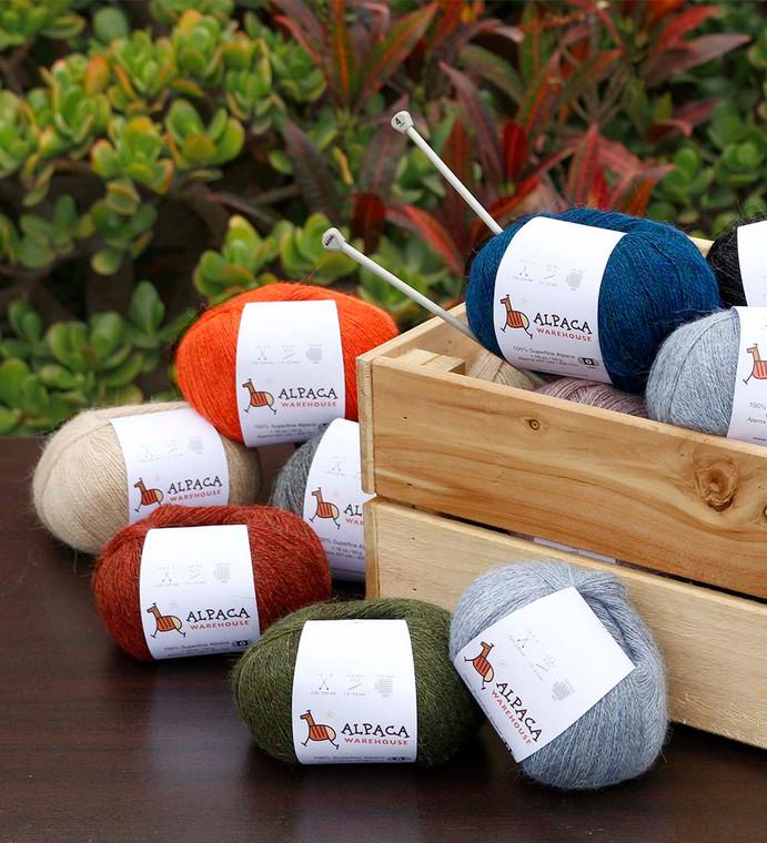 100% Alpaca Yarn Wool Set Of 3 Skeins Lace Weight