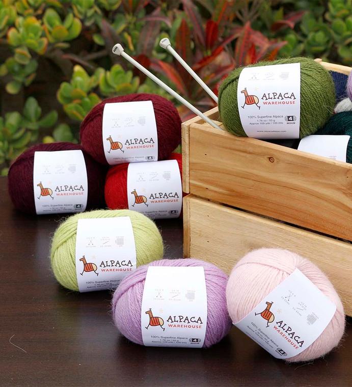 100% Alpaca Yarn Wool Set Of 3 Skeins Worsted Weight