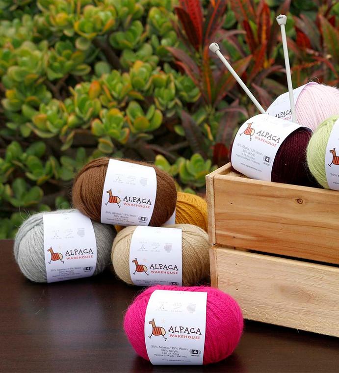 Blend Alpaca Yarn Wool Set Of 3 Skeins Worsted Weight