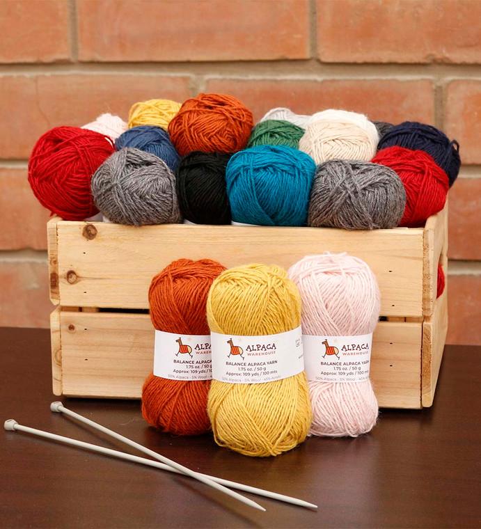 Blend Alpaca Yarn Wool Set Of 3 Skeins DK Weight