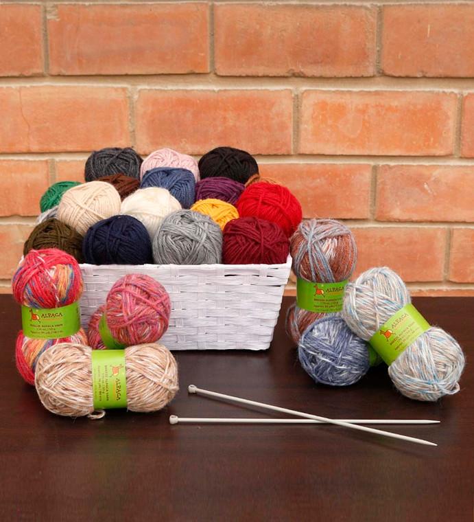 Blend Alpaca Yarn Wool Set Of 3 Skeins AS Worsted Weight
