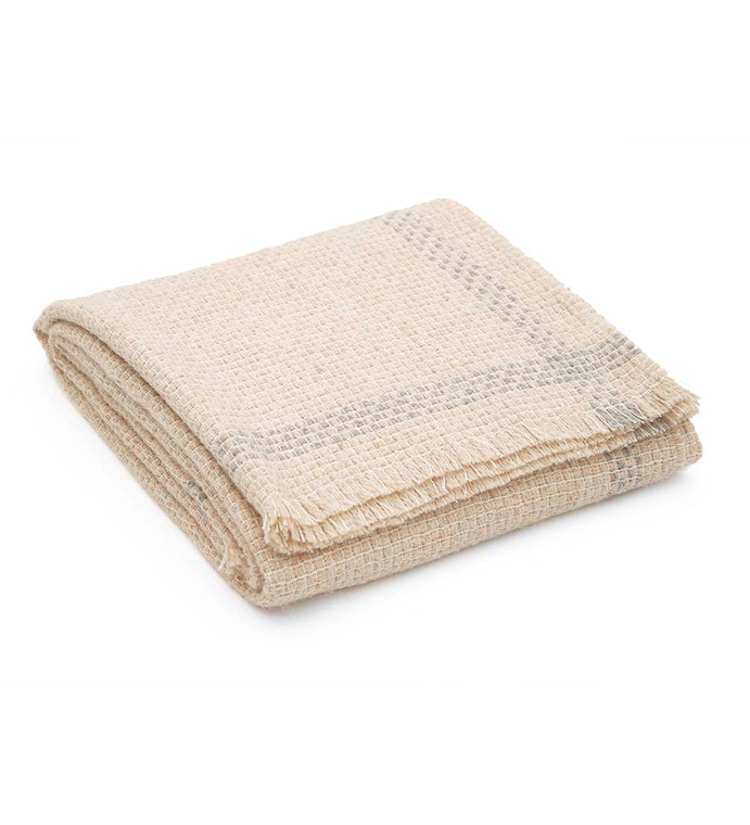 """100% Alpaca Wool Blanket Throw Beige Solid Color for Bed Couch Sofa Soft Warm Peruvian Alpaca Wool Blankets 73"""" x 53"""""""
